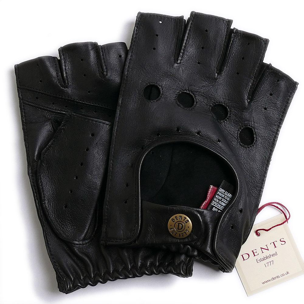 【送料無料】DENTSデンツ カットオフ ドライビング グローブ 5-1009 BLACKメンズ 手袋 半指指なし メンズ【手ぶくろ 男性用 誕生日プレゼント】++