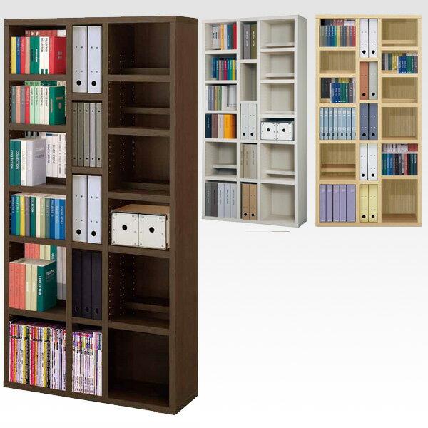 前後段違いで後ろの本が見やすい 本棚 A4収納付き 幅90.2×高さ180cm本棚 オープンラック 完成家具 書棚 薄型 コミック CD DVD 収納 完成家具 日本製 【開梱設置費用込み】 送料無料 美しい本棚 モデラート