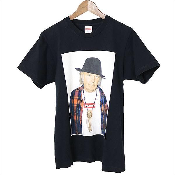 Supreme シュプリーム 15SS Neil Young ニールヤングフォトプリントTシャツ ブラック S【中古】