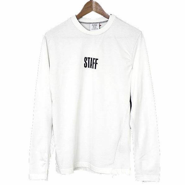 VETEMENTS ヴェトモン X Hanes 17SS STAFF L/S COTTON T-SHIRTS 再構築ロングスリーブTシャツ ホワイト XS【中古】
