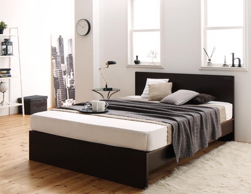 国産・デザインすのこベッド Atchison アチソン マルチラススーパースプリングマットレス付き セミダブル