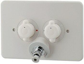 カクダイ 洗濯機用混合栓 立ち上がり配管対応