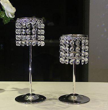 キャンドルスタンド ダイヤ風装飾 大� 2個セット