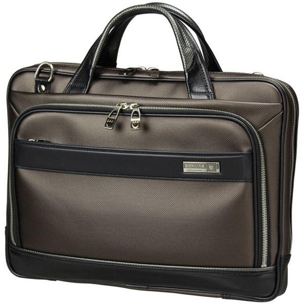 BERMAS バーマス  M.I.J MADE IN JAPAN ビジネス 2way ビジネス ブリーフケース ショルダーバッグ A4 38cm 薄マチ 日本製 豊岡鞄  ブラウン 60035-BR