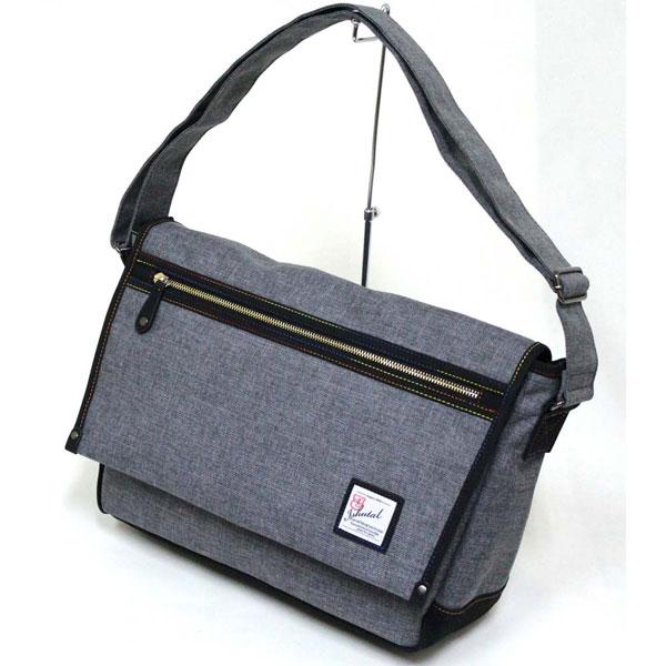 十川鞄 B.C.+ISHUTAL イシュタル ケーテン フラップ ショルダーバッグ Lサイズ グレー IKT-7503-GY