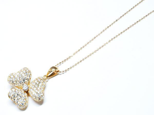 ピンクゴールド ダイヤモンド プチネックレス 【N699】