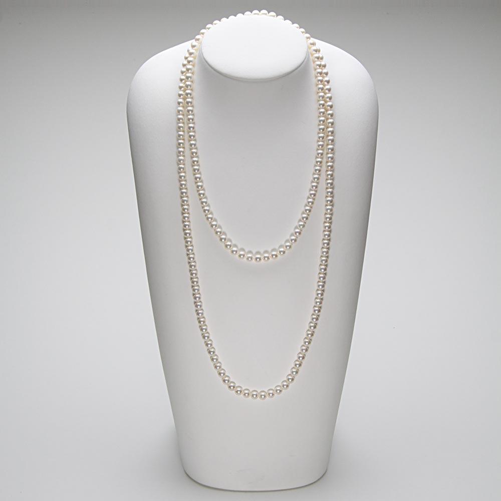 パールネックレス/6.5mm アコヤ真珠 120cm ロング パールネックレス