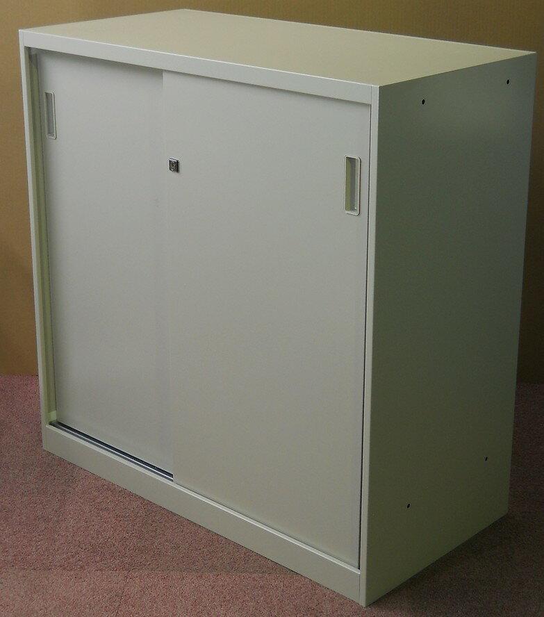 【在庫処分品・新品】 アウトレット ALPS (アルプス)引き違い扉書庫 US-9型棚板2枚付き 施錠可能 W900×D450×H900【送料無料】