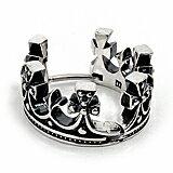 【M's collection エムズコレクション】フープピアス クラウン 王冠 ブラックキュービック ユニセックス M0392blcz