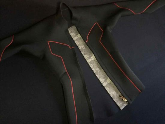 北斗の拳公式コラボレーション企画/タッパー/長袖ジャケット/ラオウモデル/ウェットスーツ