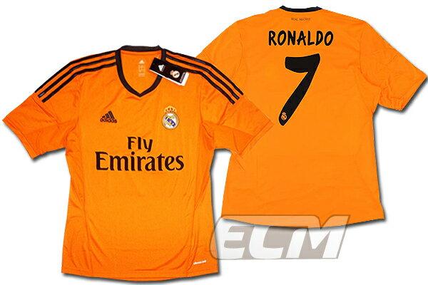 【予約RMD08】レアルマドリード サード 半袖 7番 クリスティアーノ・ロナウド【13-14/サッカー/ユニフォーム/Real Madrid/スペインリーグ】お取り寄せ