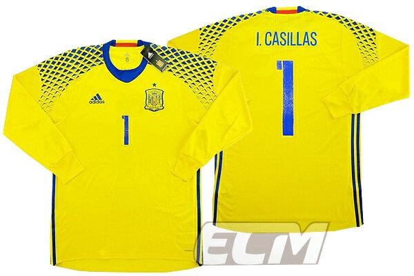 【予約ECM32】【国内未発売】スペイン代表 GK アウェイ 長袖 プレイヤーモデル 1番カシージャス【サッカー/16-17/ワールドカップ/Spain】