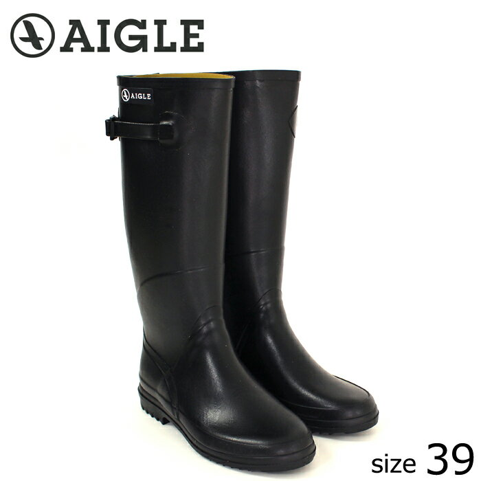 ?正規品? AIGLE/エーグル ラバーブーツ CHANTEBELLE (NOIR/サイズ39:24.5) ロング レインブーツ ノワール