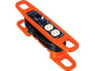 NICHIDO/日動工業 ハンドリール 電流コントロールリール 100V 2芯×3m 黒/HRC-032