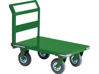 TRUSCO/トラスコ中山 【代引不可】鋼鉄製運搬車 900X600 Φ223空気入タイヤ 鋳物金具/OH-2AR