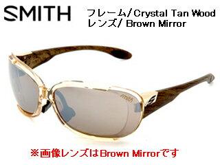 【nightsale】 Smith Optics/スミス BAZOO Crystal Tan Wood 【レンズ/Brown Mirror】 【当社取扱いのスミス商品はすべて日本正規代理店取扱品です】