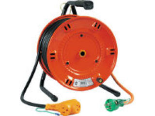 NICHIDO/日動工業 電工ドラム びっくリール 100V アース付 30m/NL-E30S (タンソウ100V)