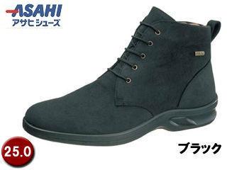 ASAHI/アサヒシューズ AF38361 TDY3836 トップドライ ゴアテックス メンズショートブーツ 【25.0cm・4E】 (ブラック)