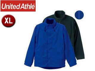 UnitedAthle/ユナイテッドアスレ ナイロン・フリース 3WAYスタンドジャケット(フードイン) 【XL】 (ブルー)