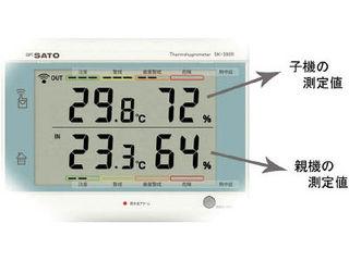 skSATO/佐藤計量器製作所 最高最低無線温湿度計 SK-300R(8420-00)