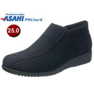 �nightsale】 ASAHI/アサヒシューズ KS23413 快歩主義 L125K レディース カジュアルブーツ �25.0cm・3E】 (ブラック)