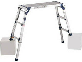 ALINCO/アルインコ 【代引不可】天板ワイド脚伸縮式足場台 PXGE-712W