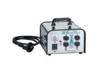 HATAYA/ハタヤリミテッド ミニトランスル 降圧型 単相200V→100・115V 3.0KVA/LV-03CS