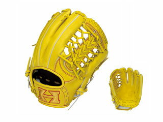 【nightsale】 HI-GOLD/ハイゴールド WKG-4015 三塁手・オールポジション用硬式グラブ 技極スペシャル (ナチュラルイエロー) 【左投げ用】
