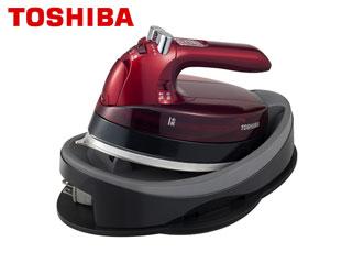 TOSHIBA/東芝 TA-FLW900(R) コードレススチームアイロン (グランレッド)