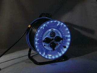 NICHIDO/日動工業 防雨型電工ドラム LEDラインドラム 緑 NPWLEB33G