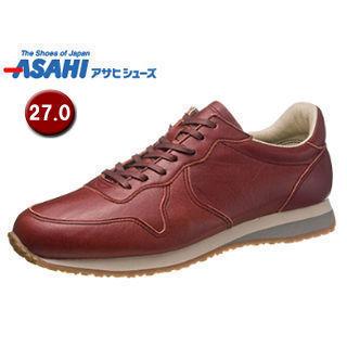 【nightsale】 ASAHI/アサヒシューズ KF50041 ASAHI 007 クラシック レザースニーカー 【27.0cm・1E】 (レッド)