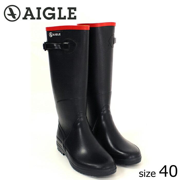 ?正規品? AIGLE/エーグル ラバーブーツ CHANTEBELLE (MARINE/サイズ40:25.0) ロング レインブーツ マリン
