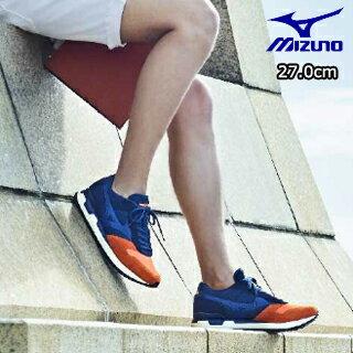 mizuno/ミズノ D1GA1706-54 スニーカー スポーツスタイル MIZUNO GV87 【27.0】 (オレンジ×ネイビー)