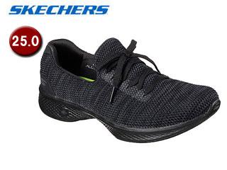 SKECHERS/スケッチャーズ 14919-BKGY GOWALK 4 - ENJOYER ウィメンズ 【25.0】(BLACK/GRAY)
