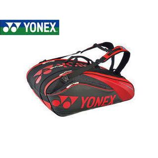 YONEX/ヨネックス BAG1602N-187 PRO series ラケットバック9 リュック付き(ラケット9本用) (ブラック×レッド)