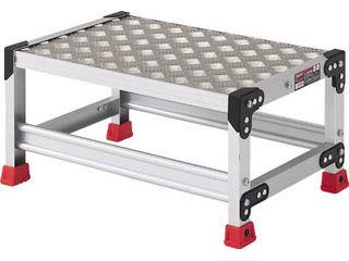 TRUSCO/トラスコ中山 作業用踏台 アルミ製・縞板タイプ 天板寸法600X400XH300/TSFC-163