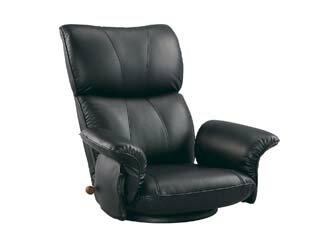 MIYATAKE/宮武製作所 【こだわりの日本製】スーパーソフトレザー座椅子 匠 YS-1396HR ブラック
