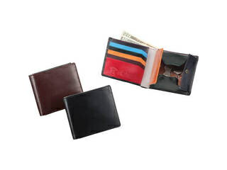 ブリティッシュグリーン ダブルブライドルレザー 二つ折り財布 マルチカラー/バーガンディ/10680003
