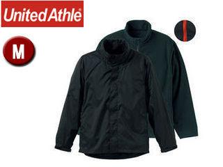 UnitedAthle/ユナイテッドアスレ ナイロン・フリース 3WAYスタンドジャケット(フードイン) 【M】 (ブラック×レッド)
