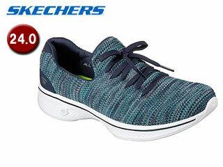 SKECHERS/スケッチャーズ 14919-NVTQ GOWALK 4 - ENJOYER ウィメンズ 【24.0】(NAVY/TURQUISE)