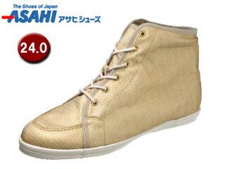 ASAHI/アサヒシューズ AX11211-1 アサヒウォークランド L035GT ゴアテックス スニーカー 【24.0cm?2E】 (ホワイト/ゴールド)