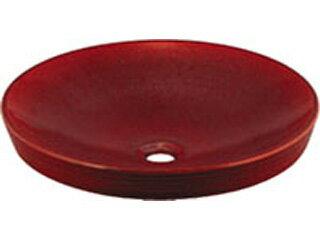 KAKUDAI/カクダイ 493014R 丸型洗面器 (鉄赤)