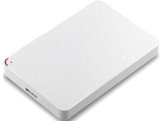 バッファロー USB3.1(Gen1)/USB3.0 ポータブルHDD 2TB ホワイト HD-PCF2.0U3-GWE