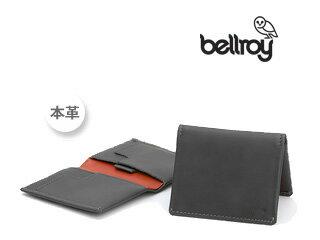 Bellroy/ベルロイ スリムスリーブウォレットCHA  【チャコール】 財布 コンパクト スリム 二つ折り カード 収納 レザー