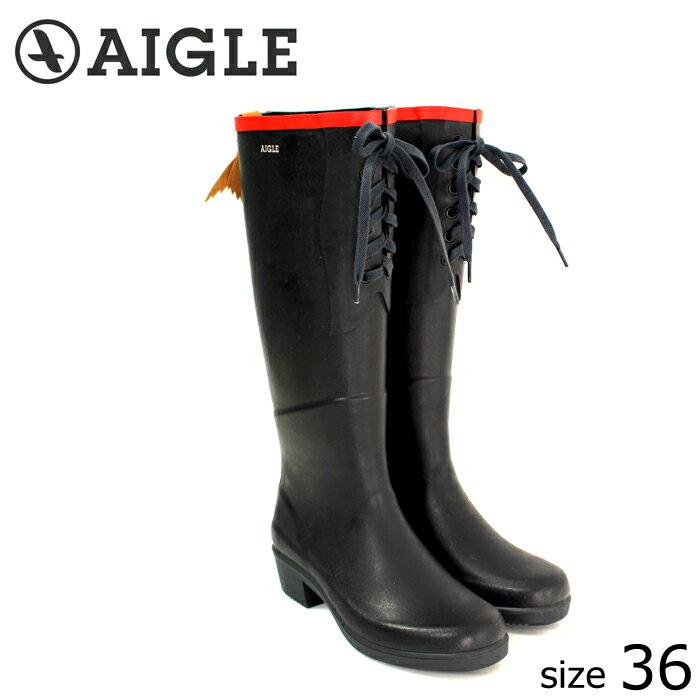 ?正規品? AIGLE/エーグル ラバーブーツ MISS JULIETTE L (MARINE ROUGE/サイズ36:23.0) ロング レインブーツ マリーンローグ