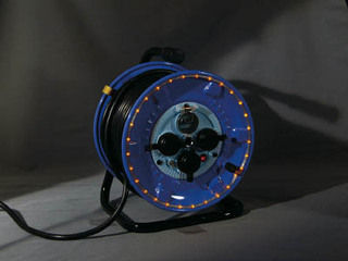 NICHIDO/日動工業 防雨型電工ドラム LEDラインドラム 赤 NPWLEB33R