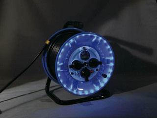 NICHIDO/日動工業 防雨型電工ドラム LEDラインドラム 青 NPWLEK33B