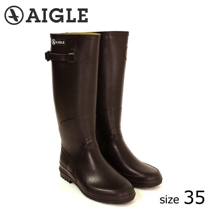 ?正規品? AIGLE/エーグル ラバーブーツ CHANTEBELLE (BRUN/サイズ35:22.5) ロング レインブーツ ブラン