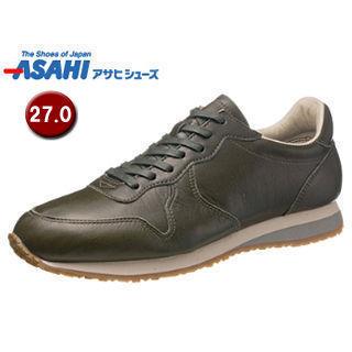 【nightsale】 ASAHI/アサヒシューズ KF50042 ASAHI 007 クラシック レザースニーカー 【27.0cm・1E】 (オリーブ)