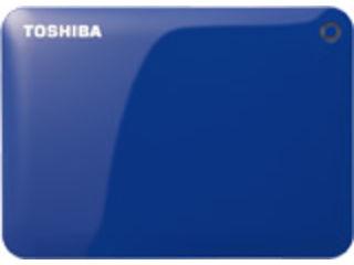 TOSHIBA/東芝 USB3.0対応ポータブルハードディスク CANVIO/キャンビオ CONNECT 1TB ブルー HD-PF10TB